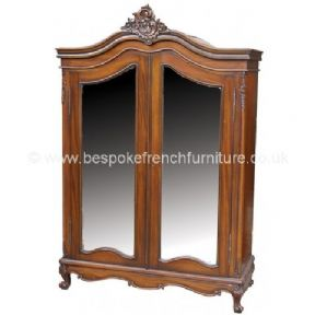 Louis Bespoke Mirrored French Armoire